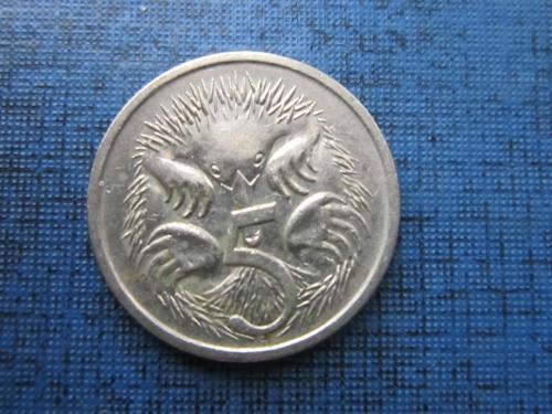 Монета 5 центов Австралия 1989 фауна