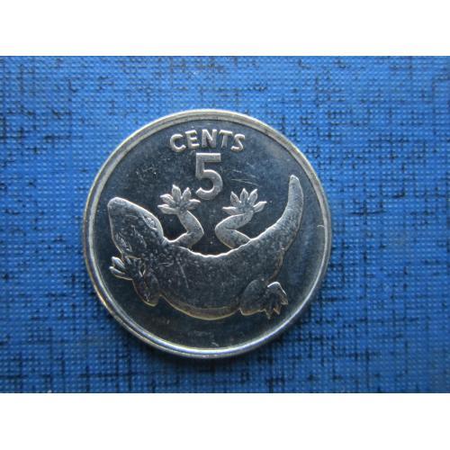 Монета 5 центов Кирибати 1979 фауна ящерица