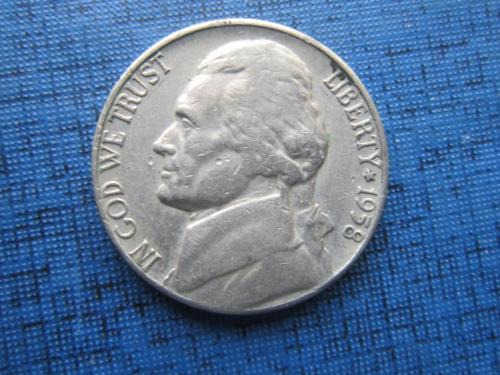 Монета 5 центов США 1958-D