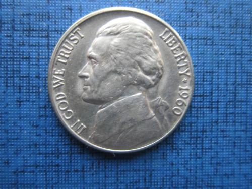 Монета 5 центов США 1960-D