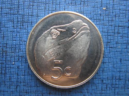 Монета 5 центов Токелау 2017 фауна варан состояние