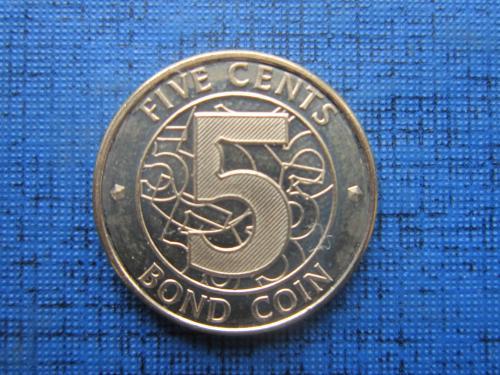 Монета 5 центов Зимбабве 2014 состояние