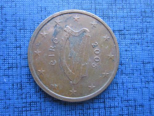 монета 5 евроцентов Ирландия 2005
