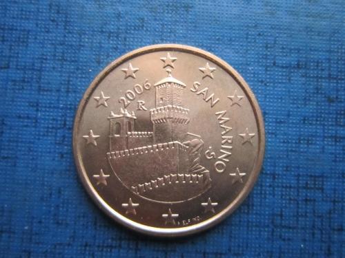 Монета 5 евроцентов Сан-Марино 2006