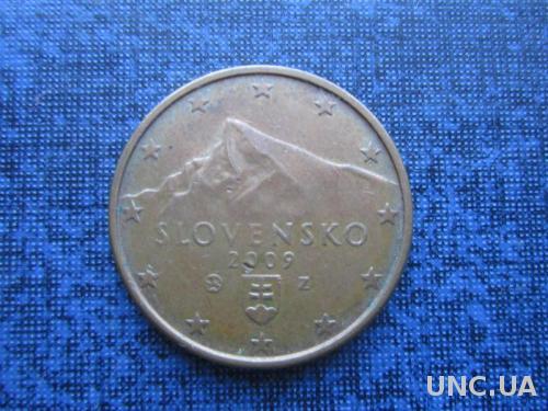 монета 5 евроцентов Словакия 2009