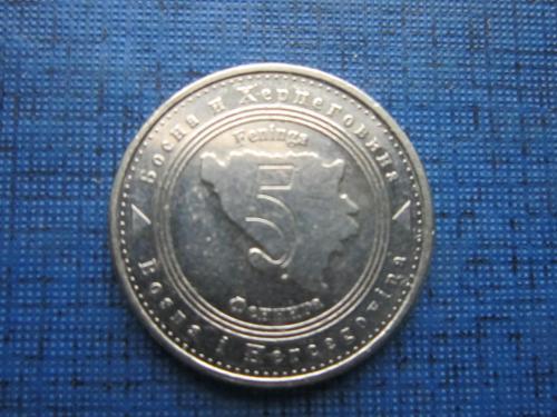 Монета 5 фенингов Босния и Герцеговина 2008