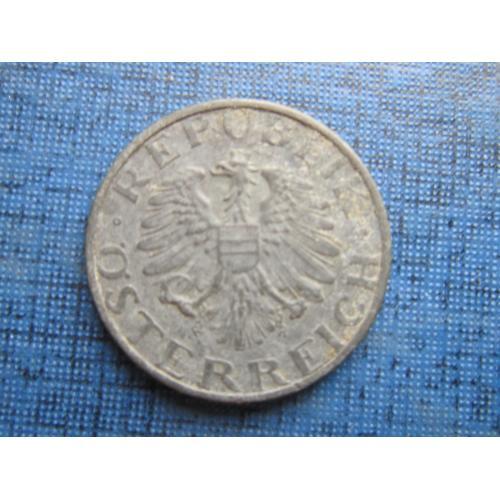 Монета 5 грошен Австрия 1955 цинк