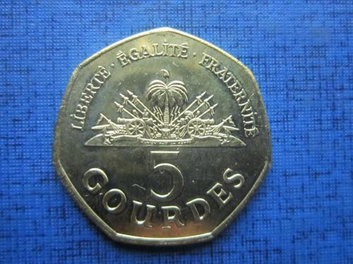 Монета 5 гурдов Гаити 2011