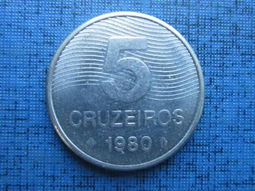 Монета 5 крузейро Бразилия 1980 флора