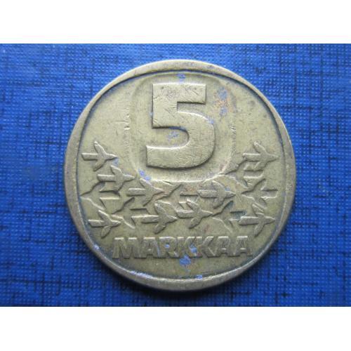 Монета 5 марок Финляндия 1983 N корабль