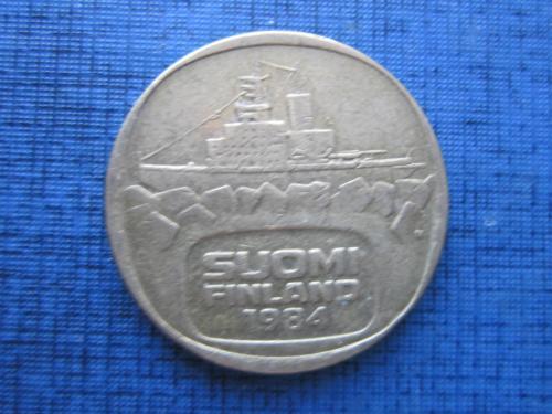 Монета 5 марок Финляндия 1984 N корабль