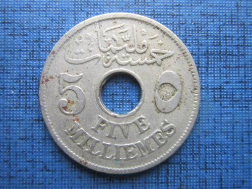 Монета 5 миллим Египет 1917 Протекторат Великобритании