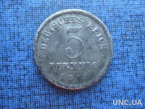 монета 5 пфеннигов Германия 1918 F