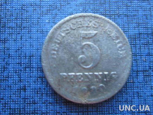 монета 5 пфеннигов Германия 1920 D