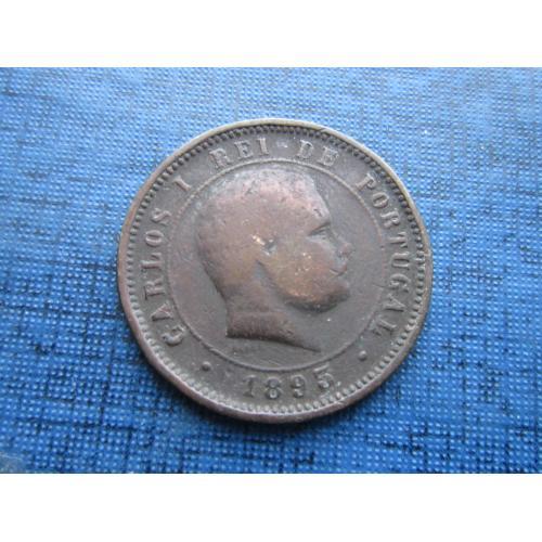 Монета 5 рейс (реалов) Португалия 1893 как есть