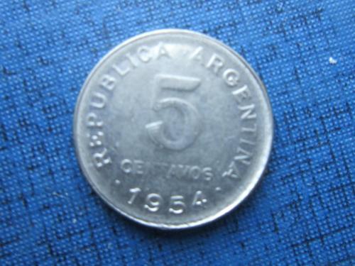 Монета 5 сентаво Аргентина 1954