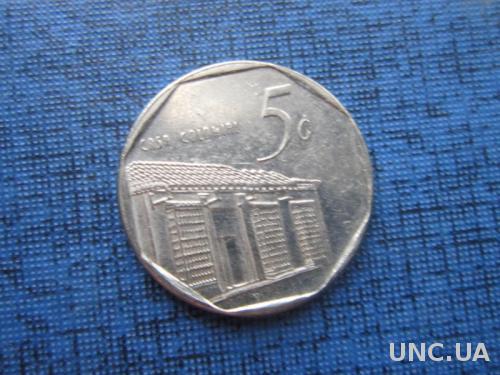монета 5 сентаво Куба 1996