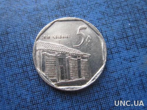 монета 5 сентаво Куба 2002