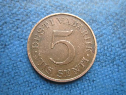 Монета 5 сенти Эстония 1931 состояние