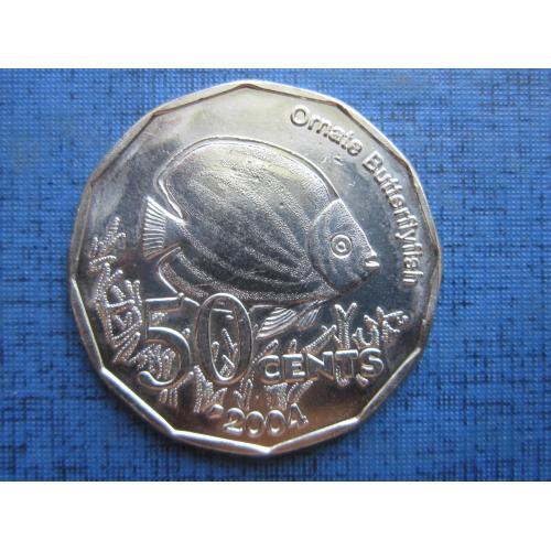 Монета 50 центов Кокосовые острова Килинг 2004 фауна рыба состояние