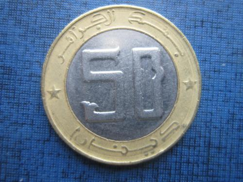 Монета 50 динаров Алжир 2015 фауна косуля