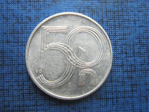 Монета 50 геллеров Чехия 1993