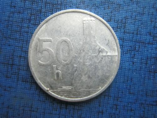 Монета 50 геллеров Словакия 1993