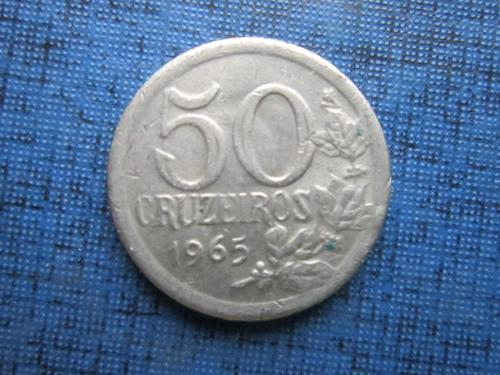 Монета 50 крузейро Бразилия 1965 редкая