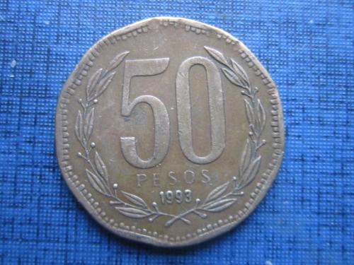 монета 50 песо Чили 1993