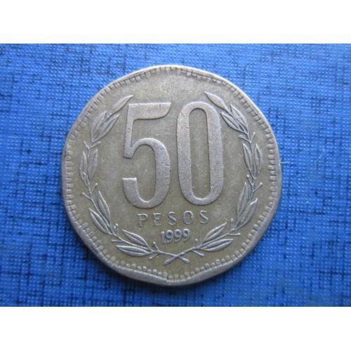 Монета 50 песо Чили 1999