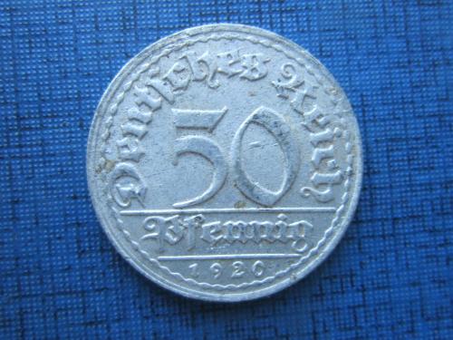 Монета 50 пфеннигов Германия 1920 D