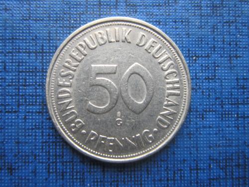 Монета 50 пфеннигов Германия ФРГ 1950 G