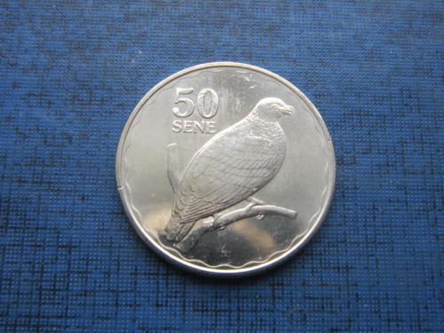 Монета 50 сене Самоа 2011 фауна птица состояние