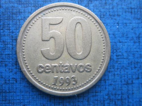 Монета 50 сентаво Аргентина 1993