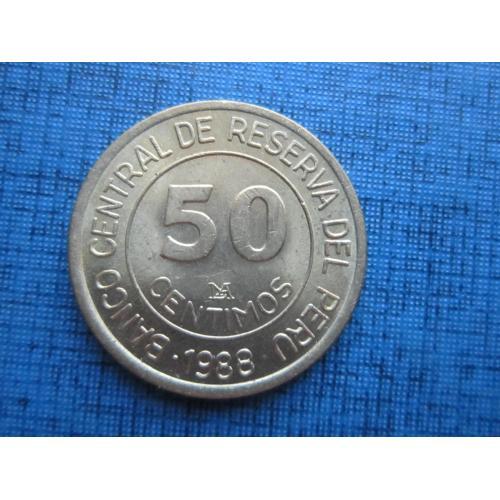 Монета 50 сентимо Перу 1988