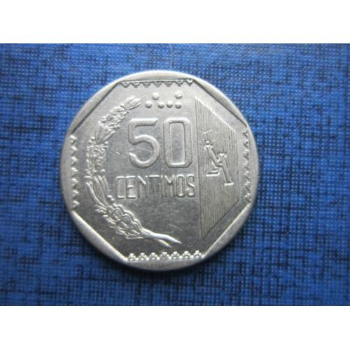 Монета 50 сентимо Перу 1994