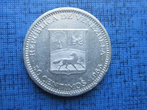 Монета 50 сентимо Венесуэла 1965