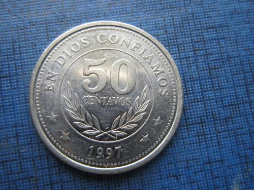 Монета 50 сетаво Никарагуа 1997