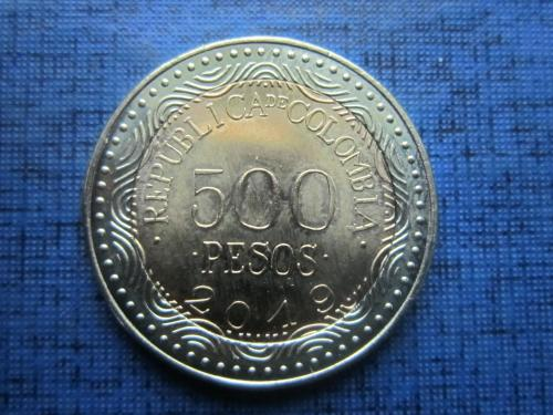Монета 500 песо Колумбия 2019 фауна лягушка состояние
