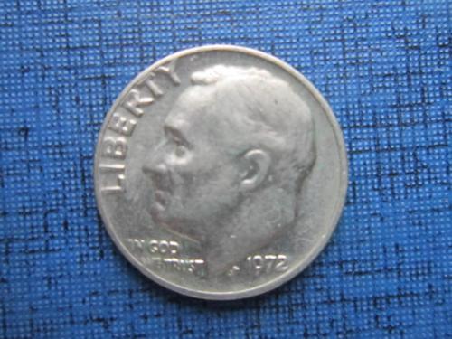 Монета дайм 10 центов США 1972
