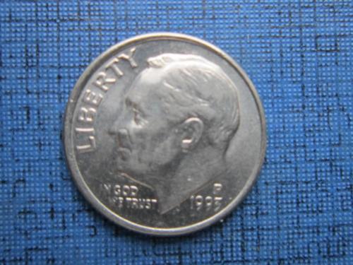 Монета дайм 10 центов США 1993-Р
