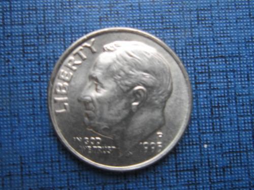Монета дайм 10 центов США 1995-Р