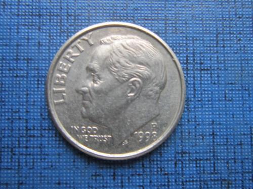 Монета дайм 10 центов США 1998-Р