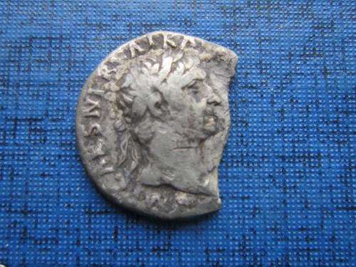 Монета денарий Римская империя 98-102 года НЭ император цезарь Траян Германикус реверс Виктория