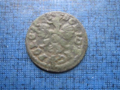 Монета солид шеляг боратинка Польша 1648-1668 Ян Казимир Ваза