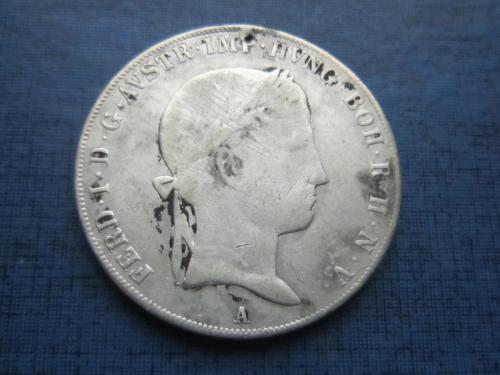 Монета таллер Австрия 1843 А Фердинанд I серебро 27.6 грамм