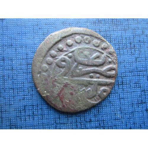 Монета таньга Средневековая Индия D=20 мм №1