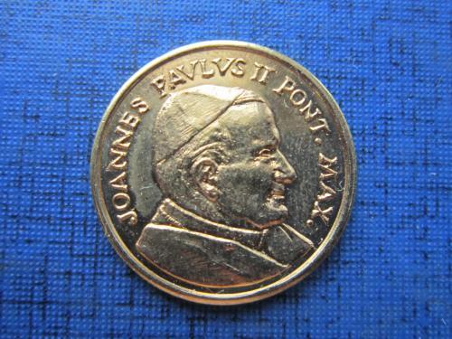 монетовидный жетон Ватикан из набора Европроба Иоан-Павел II