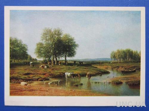 Открытка Клодт Пейзаж с коровами