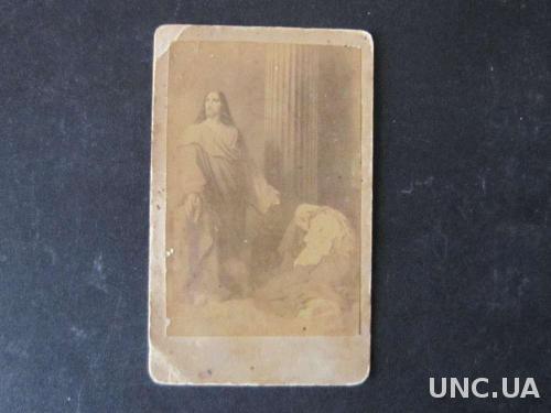 Старая типографская икона Иисус и прелюбодейница